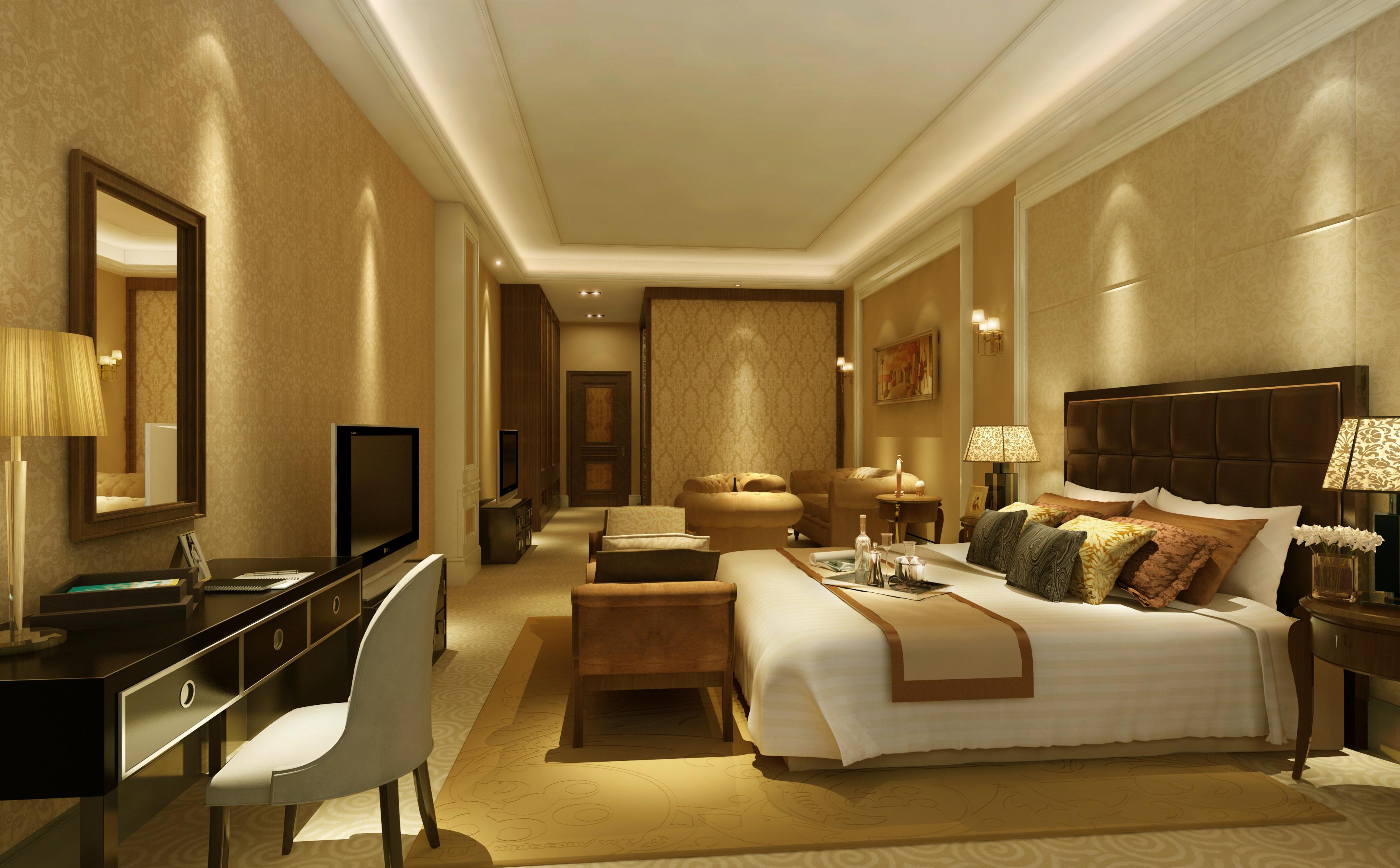 Luxury Bedroom 3d Model Max 1