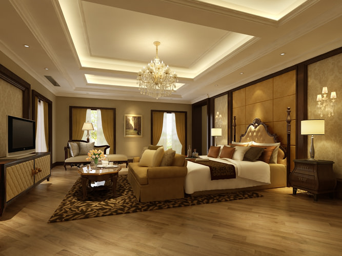 3d bedroom or hotel room cgtrader for 3d interior decoration of bedroom