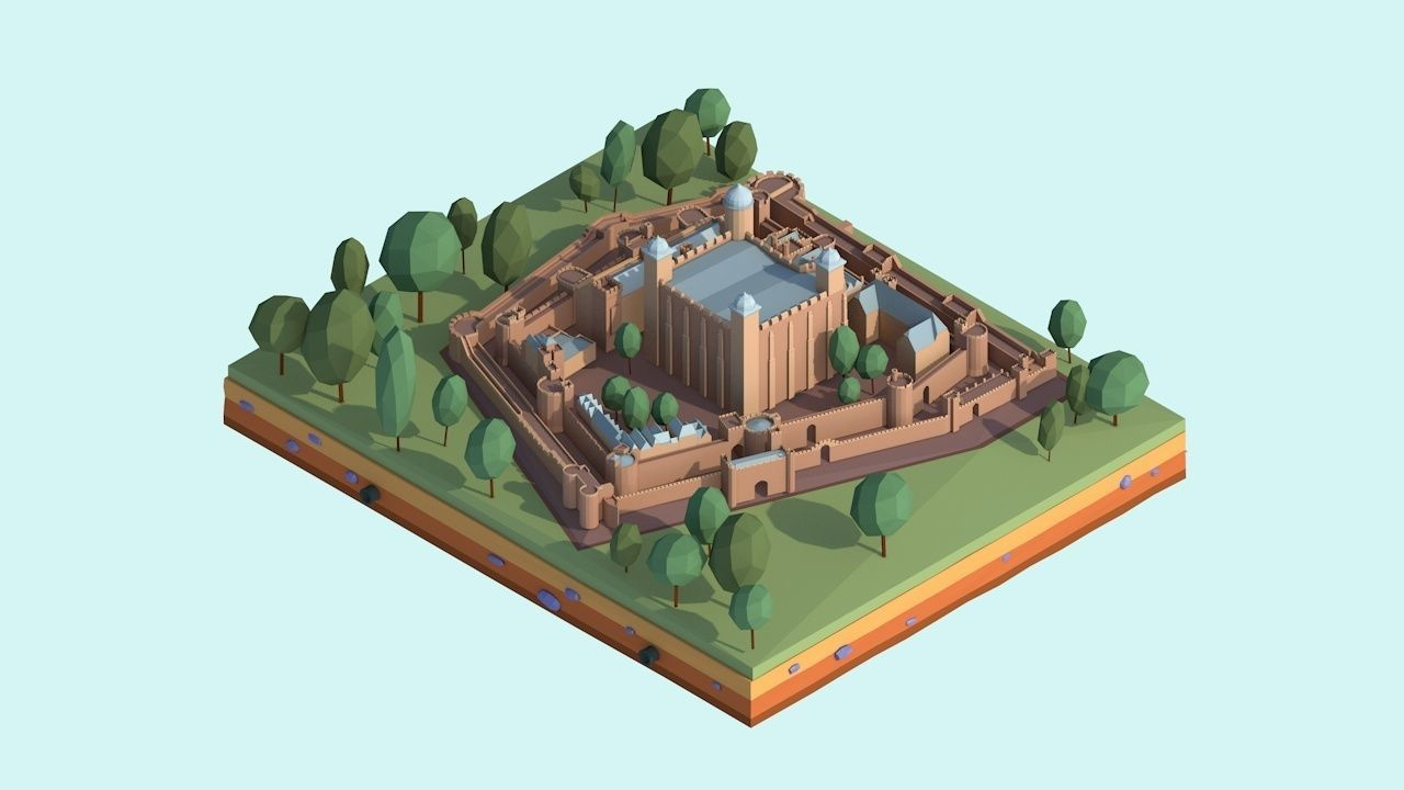 Cartoon Low Poly Tower Of London