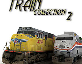 train collection 2 3D asset