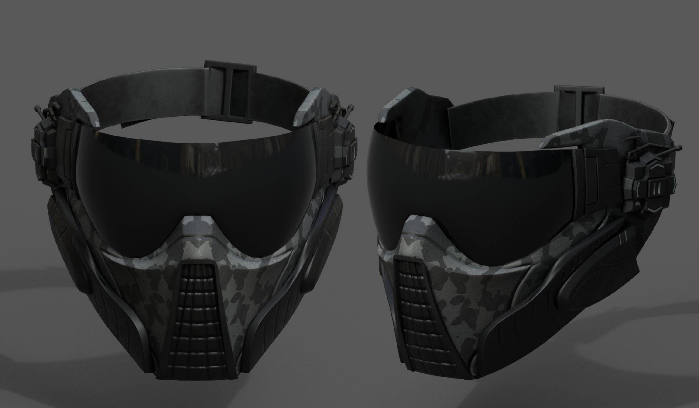 3D asset Scifi mask fantasy futuristic technology cyborg 1