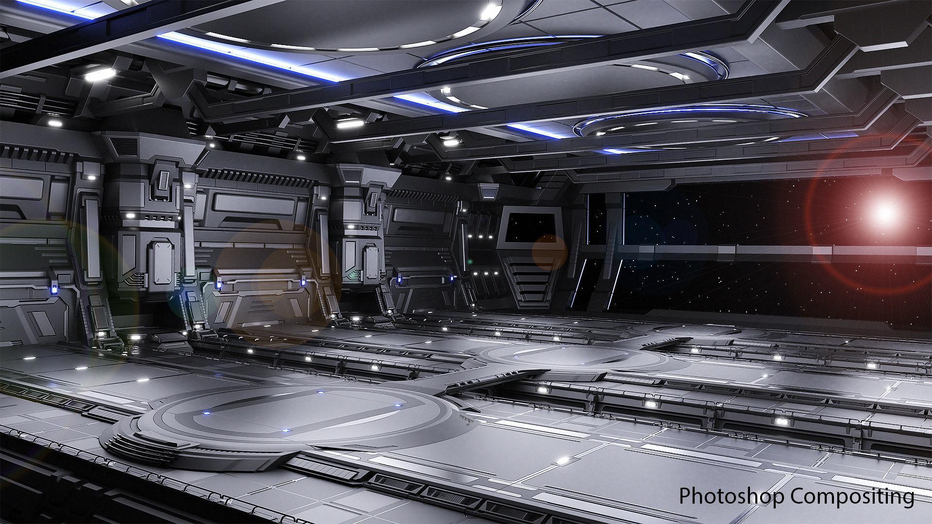 Sci-fi Scene for renders - The Last Star