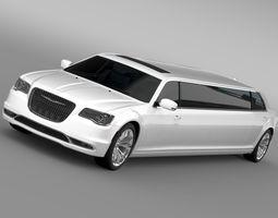 chrysler 300c platinum limousine lx2 2017 3d model