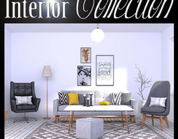 3D model Interior Collection VOL 1