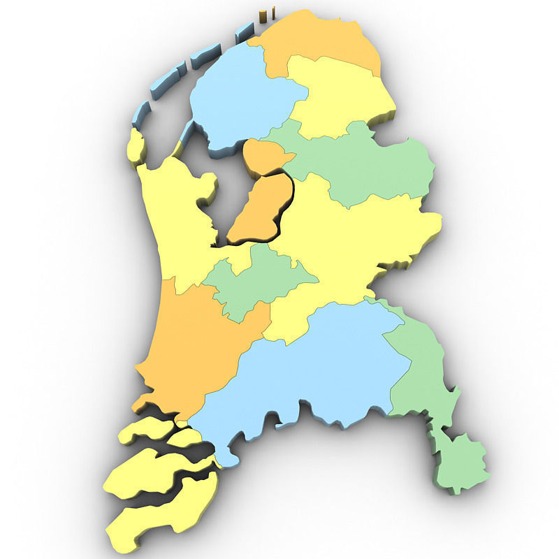 Map of the Netherlands 3D CGTrader