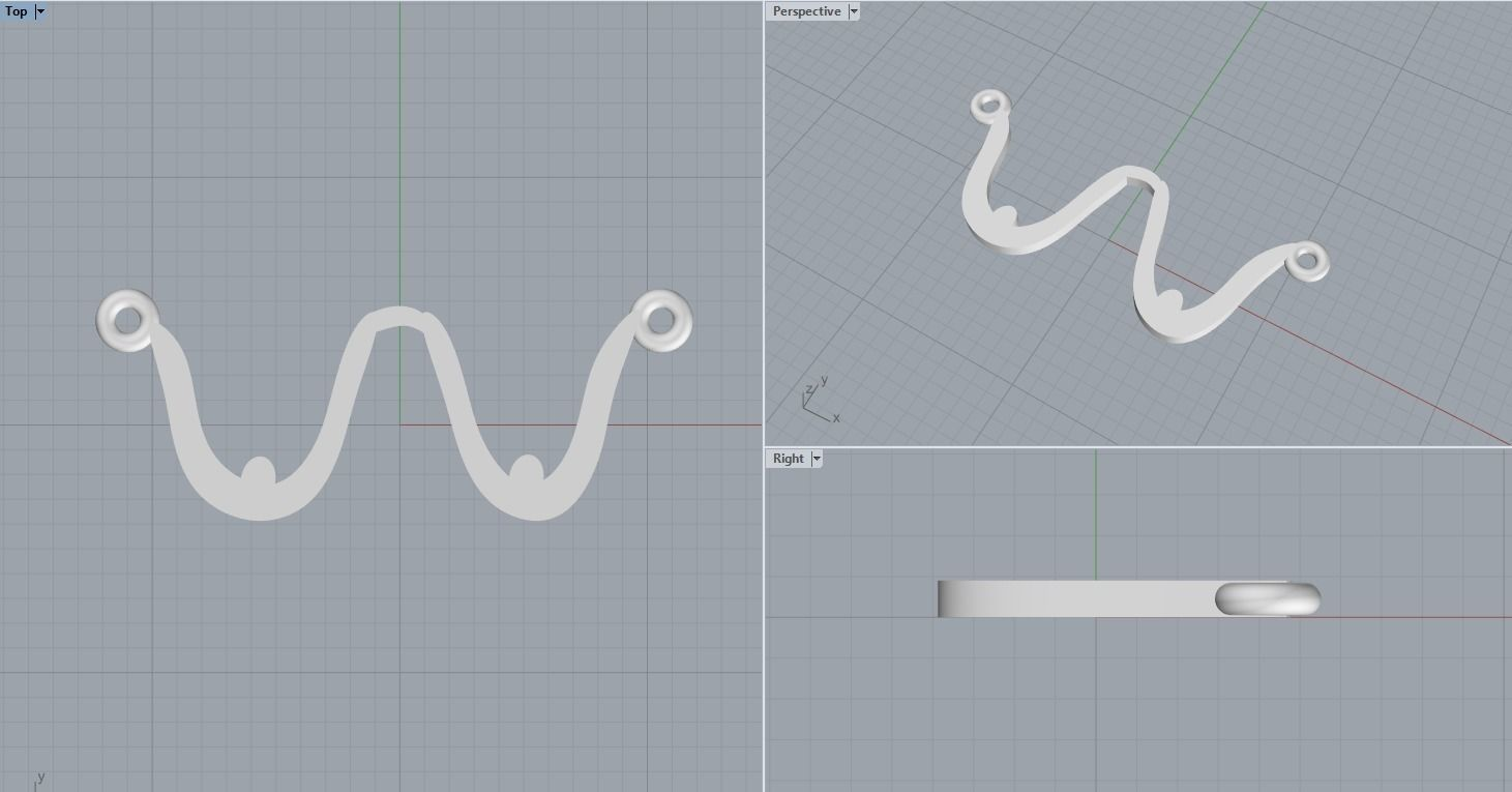 Relaxed breasts pendant 3D print model