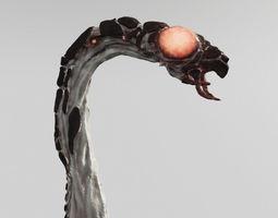 space worm 3d model low-poly rigged animated obj 3ds fbx blend uasset