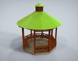 3D asset Creative Park Bench