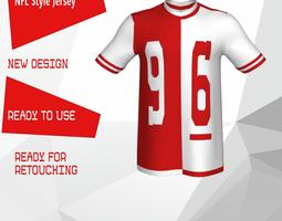 NFL Style Jersey 3D model