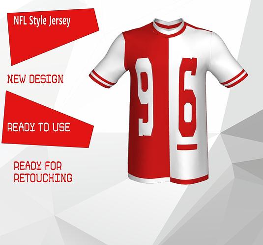 promo code 51725 dfa75 NFL Style Jersey | 3D model