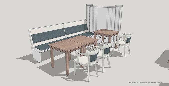Restaurant Kitchen 3d Model restaurant 3d walabi | cgtrader
