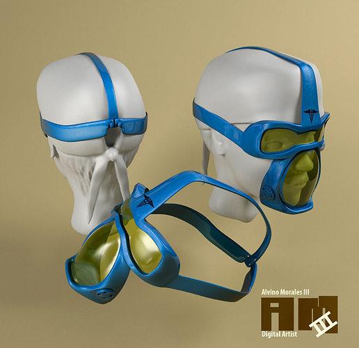 surgical mask 3d model fbx 1