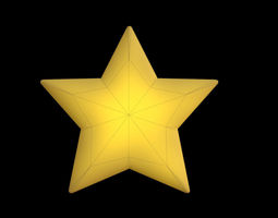 3D asset Low Poly Star