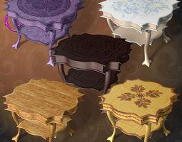classic table details 3D