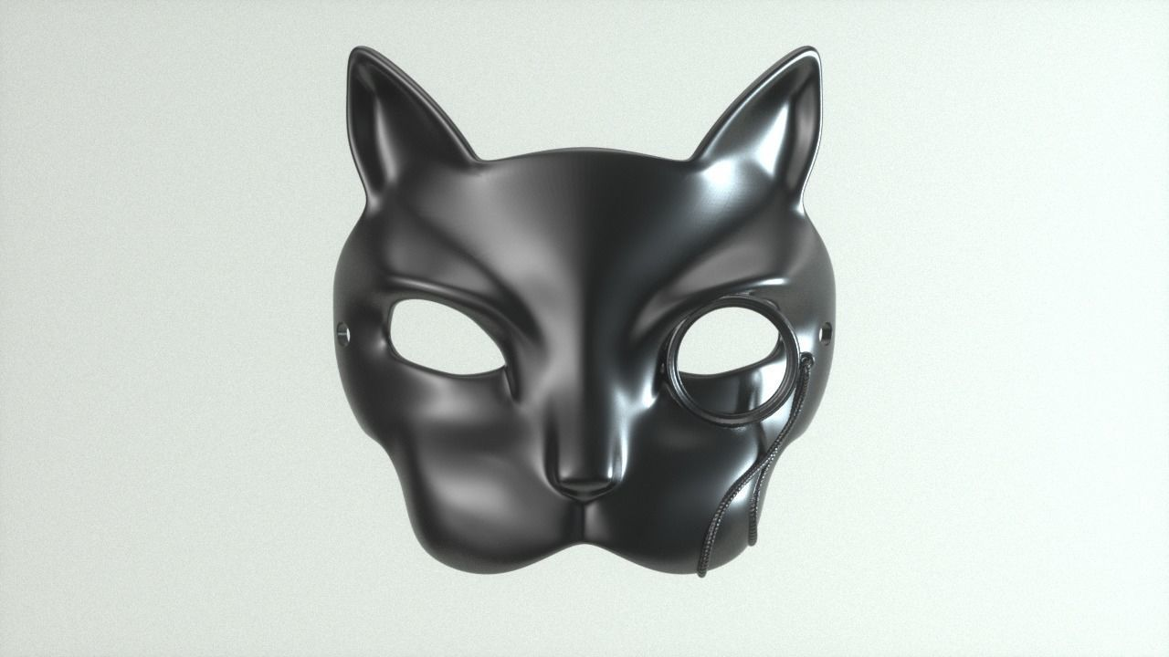 Carnival Mask - Cat with monocle