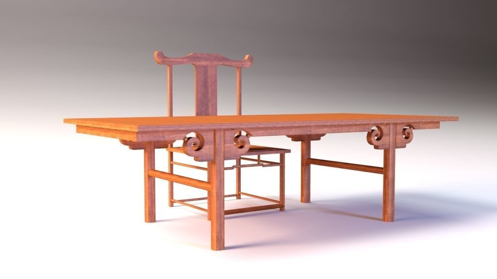 Low Poly Chinese Table