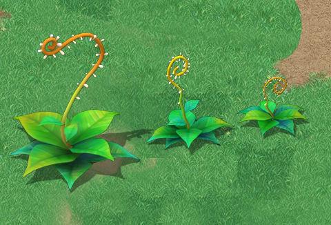 Cartoon version - moving tentacles grass