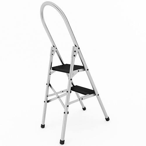 Step Ladder 3D Model MAX OBJ 3DS WRL WRZ MTL TGA