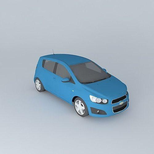 2011 Chevrolet Sonic Aveo 3d Model Cgtrader