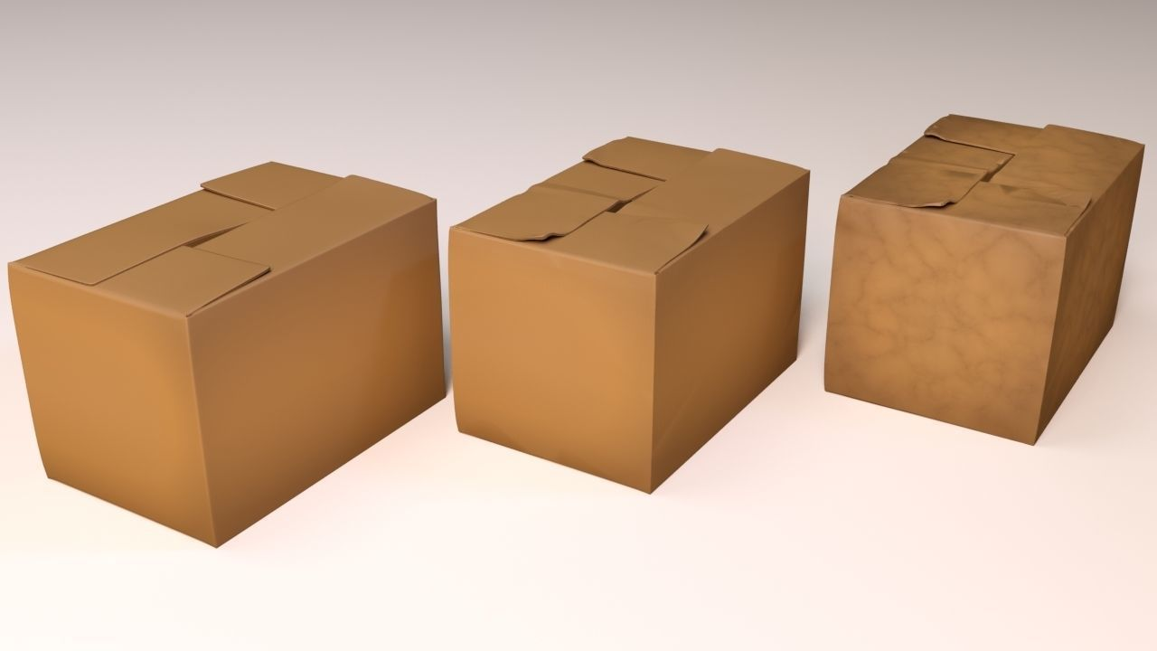 Worn Carton Boxes