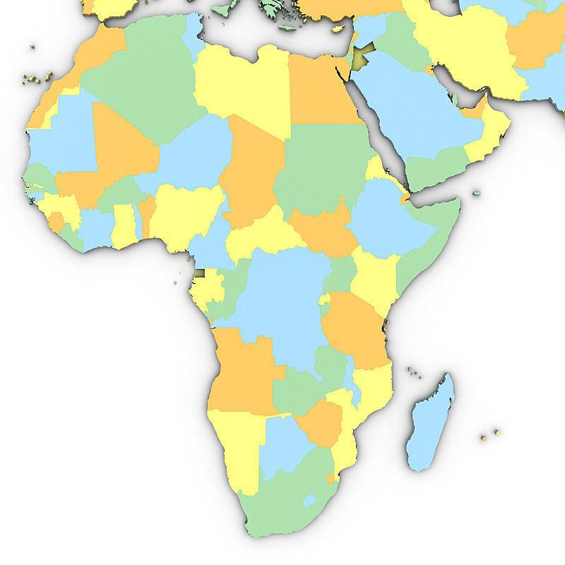 Political World Map 3D Model MAX OBJ 3DS MTL TGA
