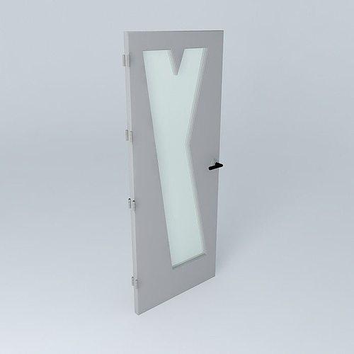 Letter Y 3D door very detail with glass lock and hinger Free 3D model & Letter Y 3D door very detail with glass lock and hinger free 3D ...