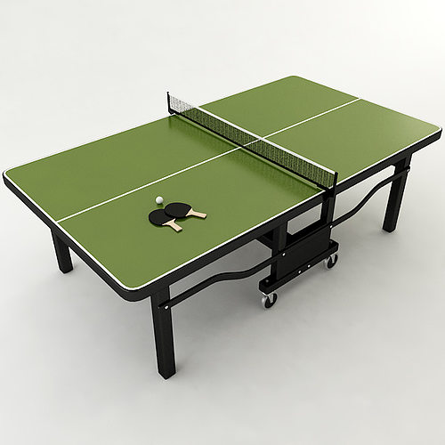 Ping Pong Table 3D Model MAX OBJ 3DS STL WRL WRZ