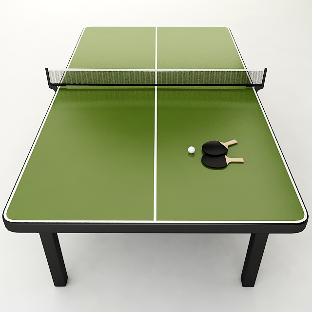 Ping Pong Table 3d Model High Poly 3d Model Of A Ping Pong Table