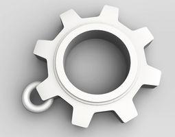 Cogwheel pendant 3D print model