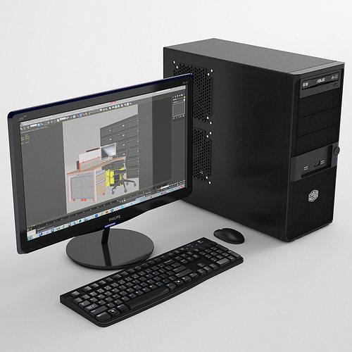 personal computer 3d model max obj fbx mtl 1