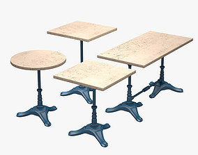 Table Set BSM 3D asset game-ready