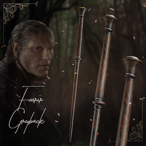 New Universal Wizarding World Of Harry Potter Fenrir Greyback Collectible Wand