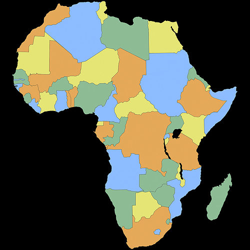Map Of Africa 3d.Africa Map 3d Cgtrader