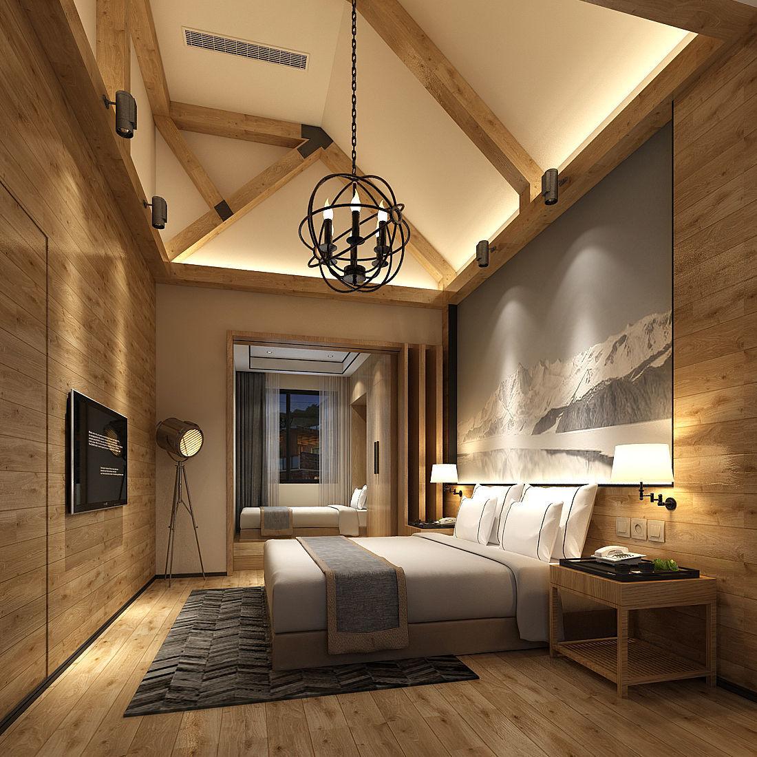 3D Deluxe master bedroom design 19   CGTrader on Model Bedroom Design  id=21741