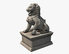 Chinese stone lion 3D asset