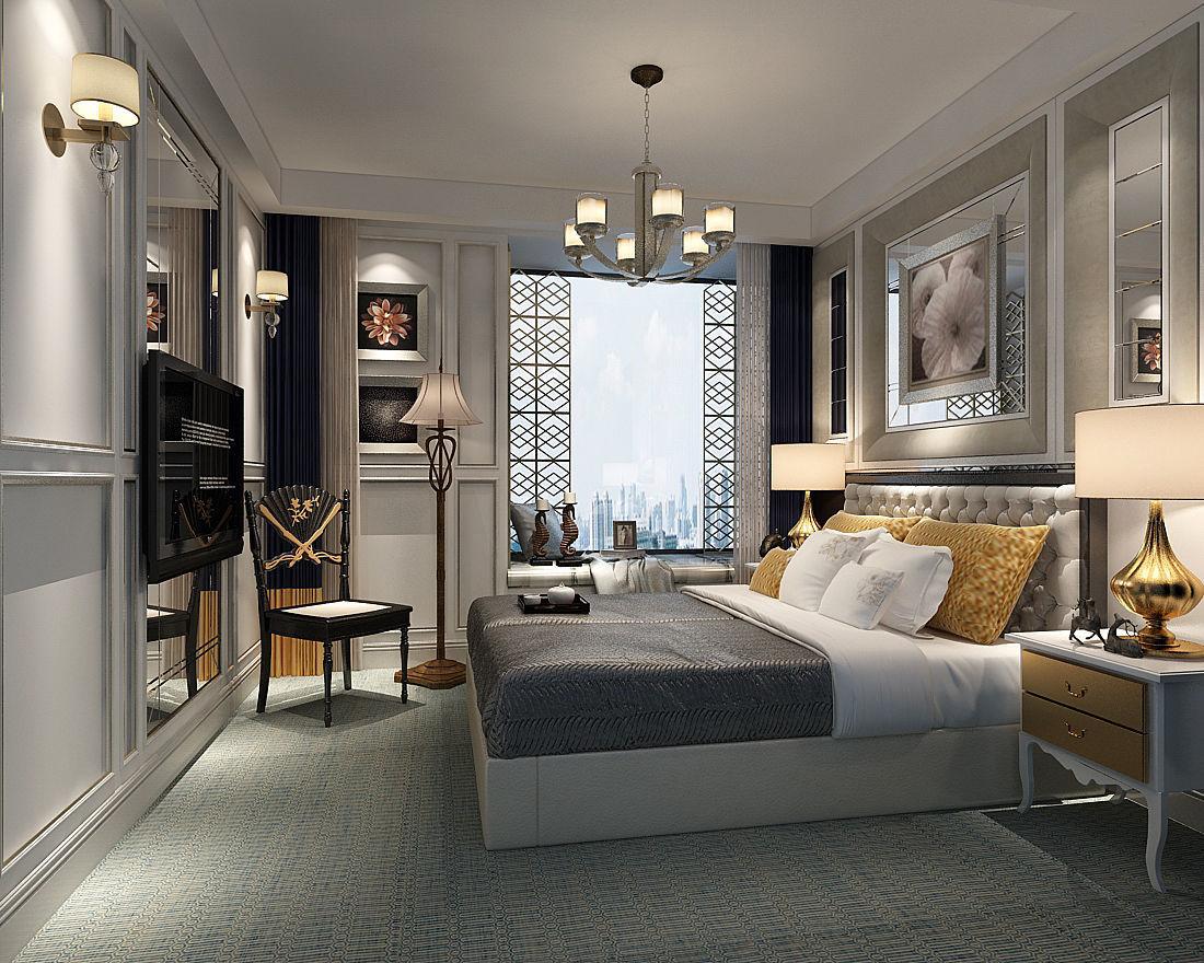 3D model Deluxe master bedroom design 66   CGTrader on Model Bedroom Design  id=50385