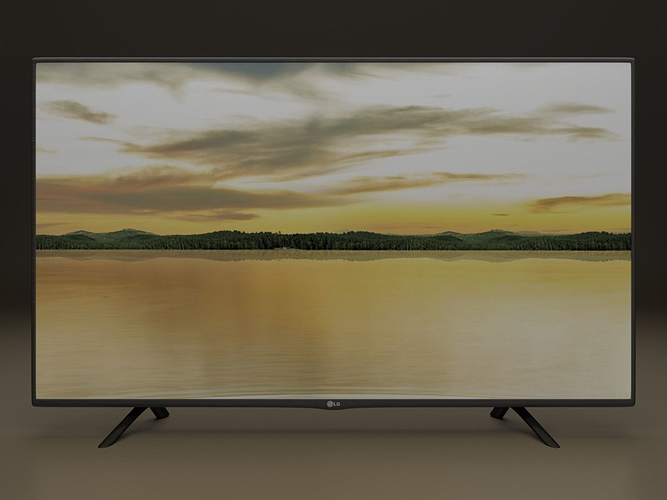 lg 42lf tv 3d model obj mtl 3ds fbx stl blend dae 1