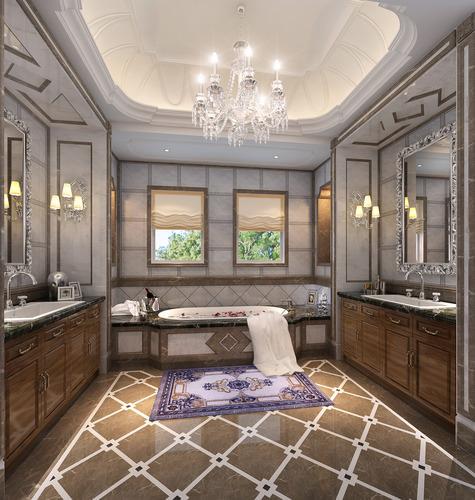 Model Luxury Home Interiors: 3D Very Luxury Bathroom