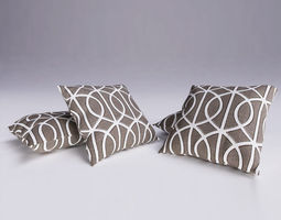 contemporary cushion 06 3d model