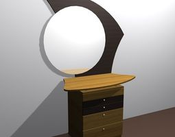 Commode furniture 01 3D Model
