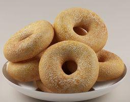 3d donuts rolls 01