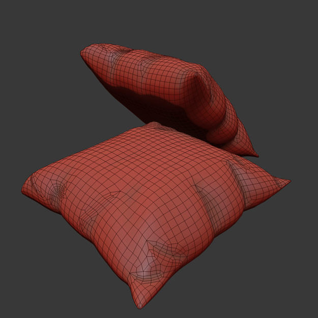 Moroccan Cushion 3d Model Max 3ds Fbx Dae Cgtrader Com
