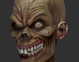zombie 3d model obj ztl