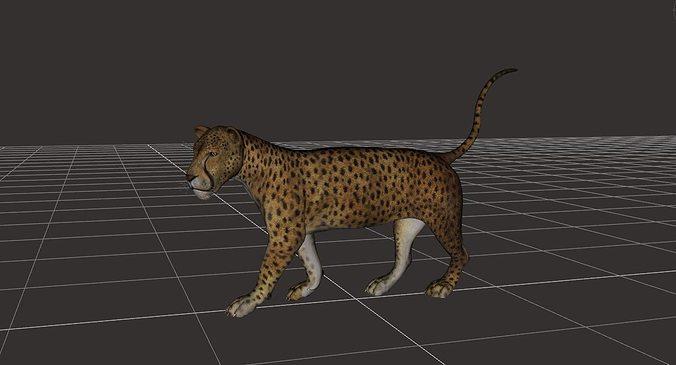 ultimate leopard rigged 1 3d model rigged obj mtl fbx ma mb 1