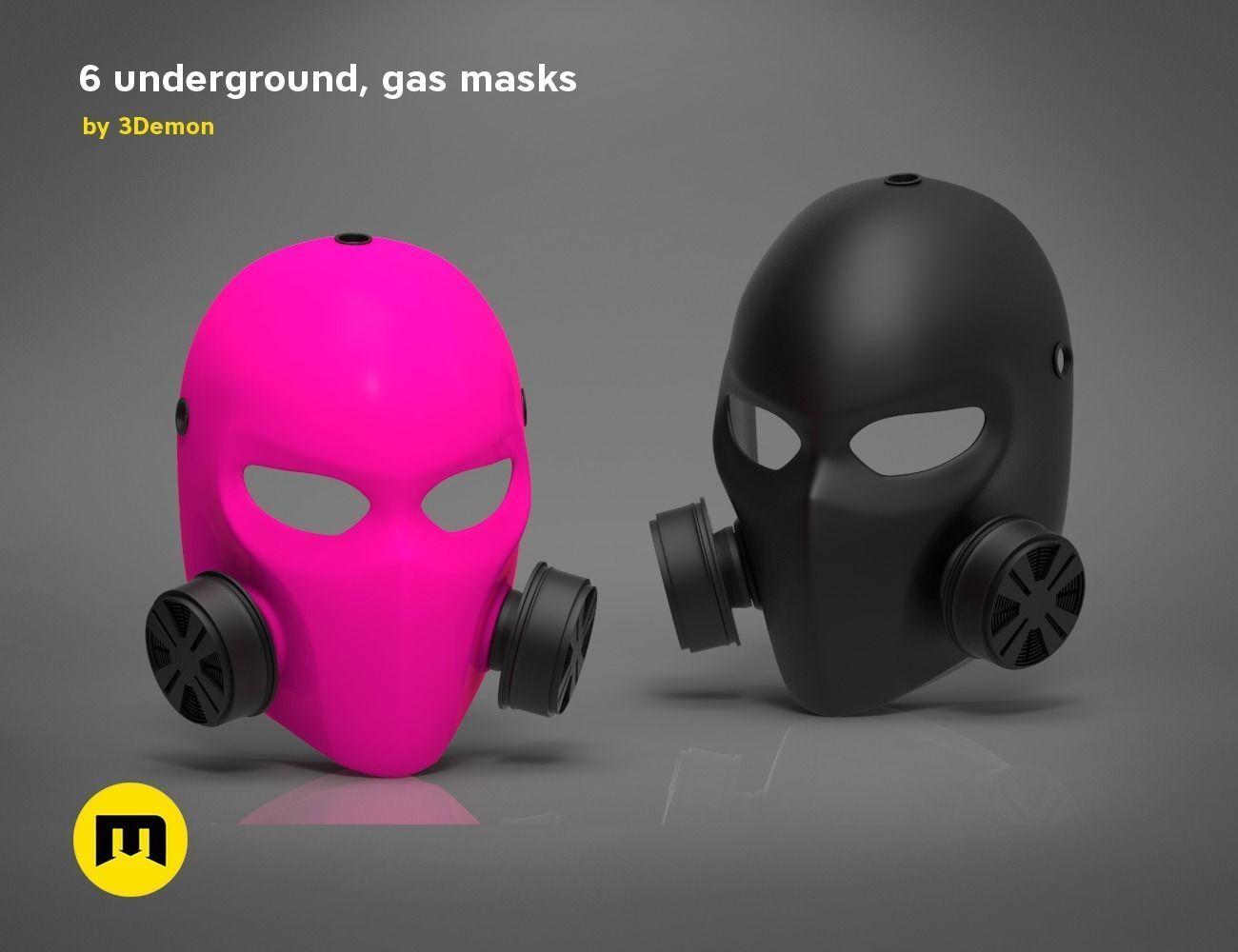 3d Printable Model Pink Gas Mask 6