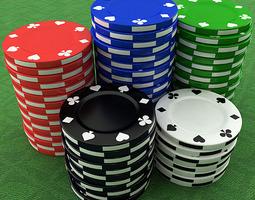 3D Casino Poker Chips