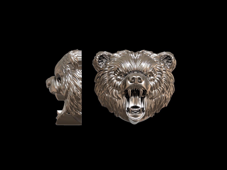 Angry bear  pendant