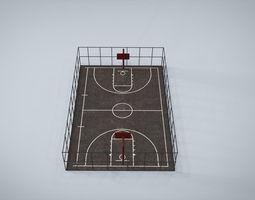 Basketball Court 3D asset realtime