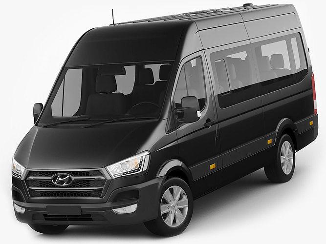 hyundai h350 bus 2015 3d model max obj mtl 3ds fbx c4d lwo lw lws 1
