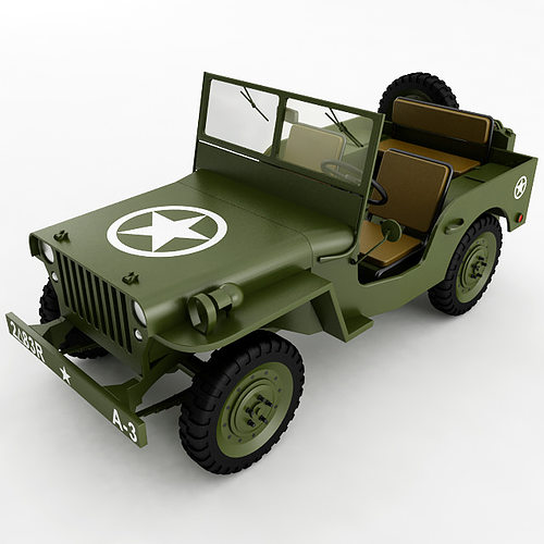 3d model willys jeep general cgtrader. Black Bedroom Furniture Sets. Home Design Ideas